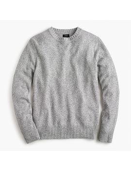 Rugged Merino Wool Heather Crewneck Sweater by J.Crew