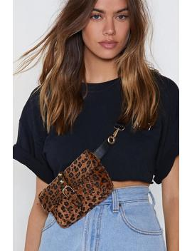 Want Woman Of The Meow Ment Leopard Belt Bag by Nasty Gal
