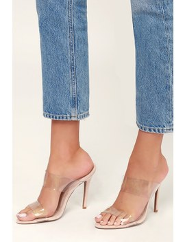 Buffy Clear Pvc High Heel Sandals by Lulu's
