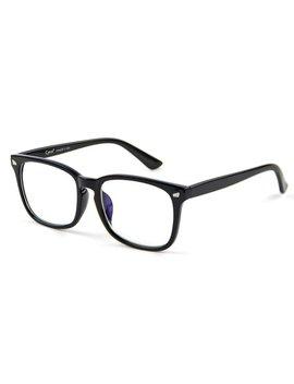 Cyxus Blue Light Blocking Computer Glasses For Uv Protection Anti Eyestrain Headaches, Black Classic Frame Unisex(Men/Women) Eyewear by Cyxus