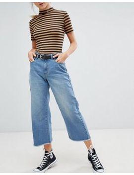 Daisy Street Wide Leg Denim Skater Jeans by Daisy Street