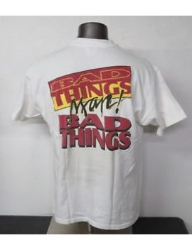 "Vintage Usc Football Shirt Made In Usa ""Bad Things!"" Size Xl White Cotton Hanes by Hanes"