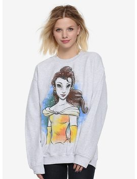 Disney Beauty And The Beast Belle Sketch Girls Sweatshirt by Hot Topic