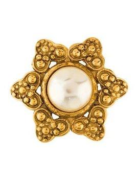 Chanel Faux Pearl Star Brooch by Chanel