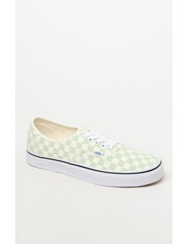 Vans Checkerboard Authentic Peach Shoes by Pacsun