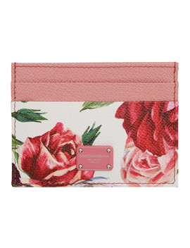 Pink Peonies Card Holder by Dolce & Gabbana