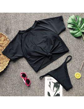 Ariel Sarah 2018 High Neck Bikini Women Thong Bikini Set Bathing Suit Solid Swimwear Swimsuit Beach Wear Maillot De Bain Femme by Ariel Sarah