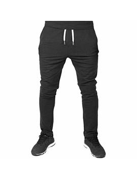Good Lock Clearance! Men Casual Elastic Fitness Pants Sportswear Workout Running Gym Pants Trousers by Good Lock