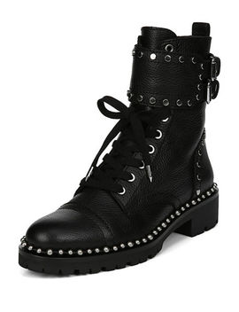 Jennifer Studded Combat Boots by Sam Edelman