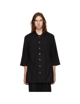 Black Wool Zabriskie Shirt by Kiko Kostadinov