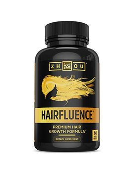 Hairfluence   Hair Growth Formula For Longer, Stronger, Healthier Hair   Scientifically Formulated With Biotin, Keratin, Bamboo & More!   For... by Zhou Nutrition