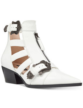 Carrillo Cutout Buckle Booties by Nine West