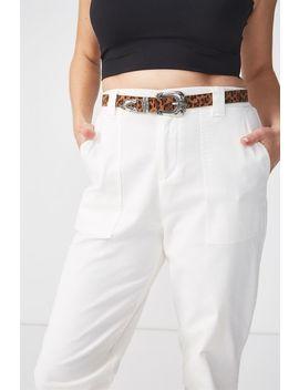 Ziggy Leopard Belt by Cotton On