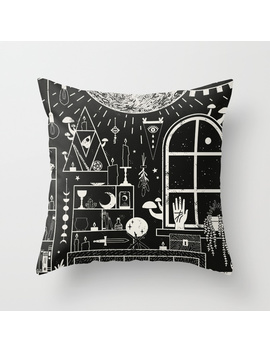 Moon Altar Throw Pillow by