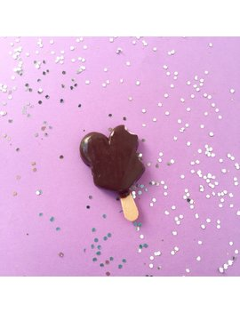 Mickey Ice Cream Bar Lapel Pin   Handmade Polymer Clay Mini Food Dessert Candy Jewelry Accessories Disney Disneyland by Etsy