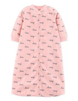 Baby Girls Love Print Microfleece Sleep Bag by Carter's