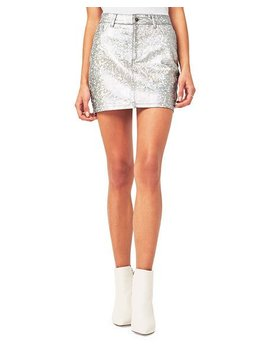 Brit Metallic Denim Skirt by Dl1961 Premium Denim