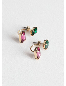 Jewelled Front Back Stud Earrings by & Other Stories
