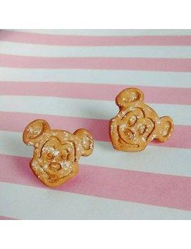 Mickey Mouse Waffle Earrings   Handmade Mini Food Dessert Candy Jewelry   Disney Disneyland Gift by Etsy