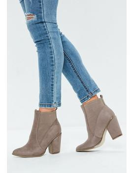 Beige Western Chelsea Boots by Missguided