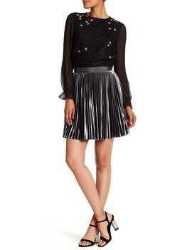 Velvet Pleated Skirt by Ted Baker London