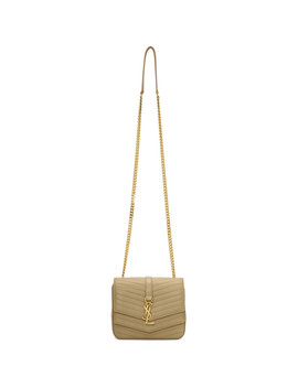 Beige Small Montaigne Monogramme Chain Bag by Saint Laurent