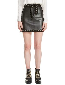 Jarisco Leather Miniskirt by Maje