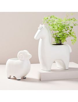 Ceramic Farm Animal Planters by West Elm