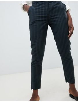 Selected Femme Pinstripe Tailored Trouser by Selected