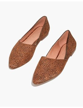 The Lizbeth Flat In Dotted Calf Hair by Madewell