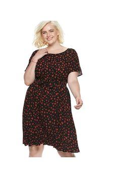 Plus Size Popsugar Print Tie Waist Dress by Kohl's