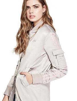 Ecru Patch Jacket by Guess