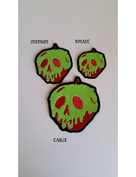 """Disney Inspired """"Just One Bite""""  Poison Apple From Snow White Embroidered Patch Small, Medium, Large, Extra Large, Iron On And/Or Sew On by Etsy"""