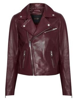 Bexita Leather Biker Jacket by Maje