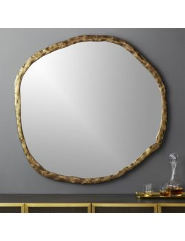 "Abel Round Mirror 48"" by Crate&Barrel"
