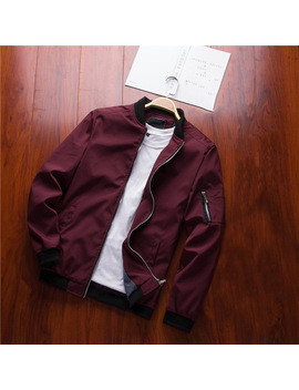 Naranja Sabor Spring New Men's Bomber Zipper Jacket Male Casual Streetwear Hip Hop Slim Fit Pilot Coat Men Clothing Plus Size 4 Xl by Naranja Sabor
