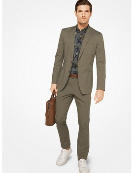 Slim Fit Stretch Cotton Blazer by Michael Kors Mens
