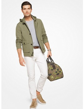 Hooded Cotton Blend Jacket by Michael Kors Mens