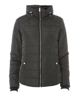Black Faux Fur Collar Puffer Jacket by Dorothy Perkins