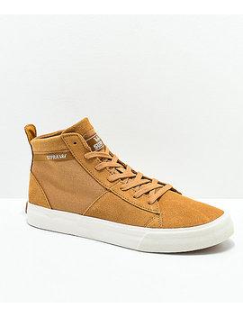 Supra Stacks Mid Tan & Bone Skate Shoes by Supra