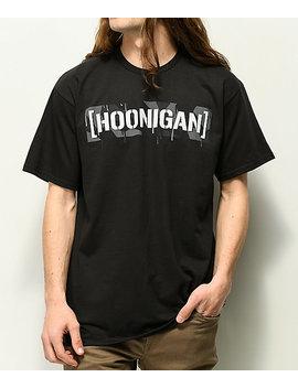Hoonigan Geo Drip Camo Black T Shirt by Hoonigan