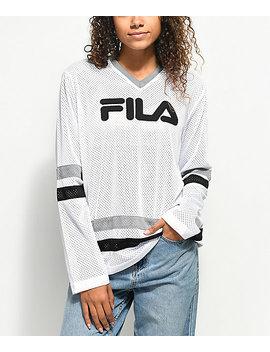 Fila Tanya White Mesh Long Sleeve Hockey Jersey by Fila