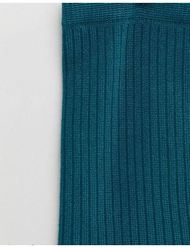 monki-ribbed-sock-in-green by monki