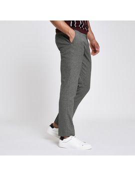 Grey Skinny Smart Pants by River Island