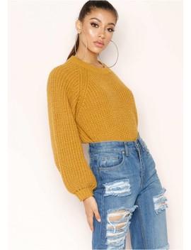 Immy Mustard Knit Jumper by Missy Empire
