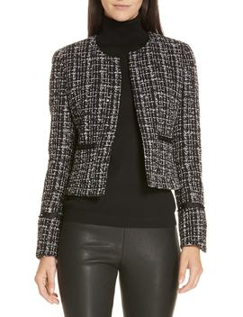 Kalali Crop Tweed Jacket by Boss