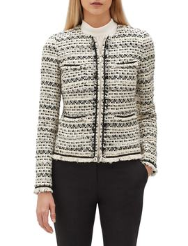 Benji Modulated Tweed Jacket by Lafayette 148 New York