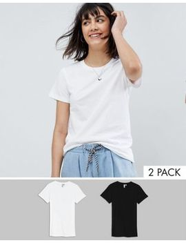 Asos Design Ultimate Crew Neck T Shirt 2 Pack Save 15 Percents by Asos Design