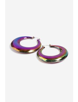 Petrol Thick Hoop Earrings by Topshop