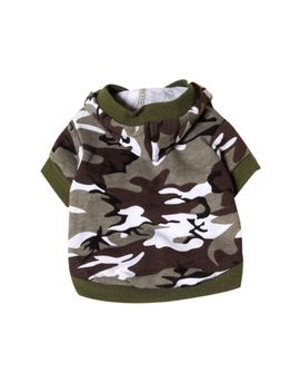 Au Small Pet Dog Cat Clothes Puppy Camo Hooded Tee Shirt Sweatshirt Jacket Coat by Unbranded